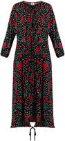 Vetements Rose and polka-dot print jersey dress