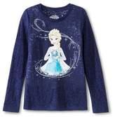 Frozen Disney Girls' Frozen Long Sleeve T-Shirt Navy