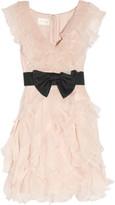 Ruffled silk-organza and tulle dress