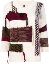 I'M Isola Marras oversized patchwork effect jumper