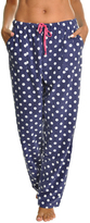 Angelina Blue Dot Fleece Pajama Pants- Plus Too