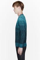 Paul Smith Turquoise ombre slub sweatshirt