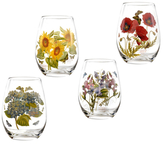 Portmeirion Botanic Garden Stemless Wine Glasses (Set of 4)