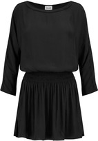 Splendid Smocked crepe mini dress