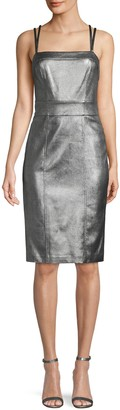BCBGMAXAZRIA Faux Leather Sheath Dress