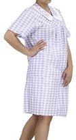 EZI Women's Duster5 Short Sleeve Cotton House Dress