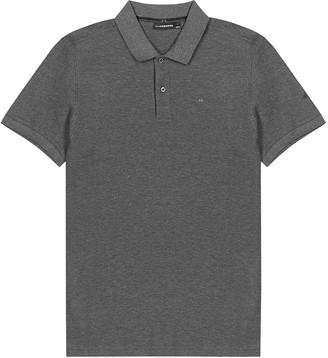 J. Lindeberg Troy charcoal melange cotton polo shirt