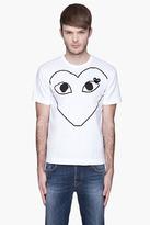 Comme des Garcons White Black Logo T-Shirt