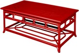 The Well Appointed House Four Season Indoor Outdoor Aluminum Coffee Table in Red - LOW STOCK ,ORDER NOW