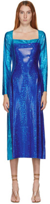 Saks Potts SSENSE Exclusive Blue Shimmer Andy Dress