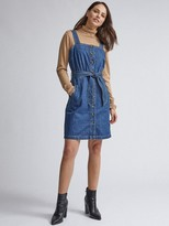 Dorothy Perkins Belted Pinny Dress - Indigo