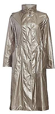 Akris Punto Women's Long Metallic Technical Parka