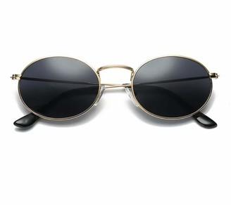 No Name Ltd Black Round Sunglasses for Women Retro Hippy Vintage 2020 Ibiza Festival Dark Circle Lens