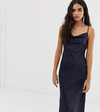 Miss Selfridge cami slip dress in navy