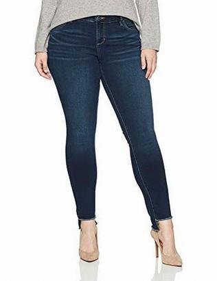 SLINK Jeans Women's Plus Size Amber Step Hem Skinny 16w