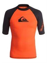 Quiksilver Mens All Time - Short Sleeve Rash Vest Short Sleeve Rash Tank Orange Xl