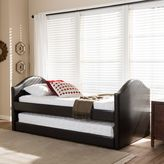 Alessia Upholstered Daybed with Trundle in Faux Leather