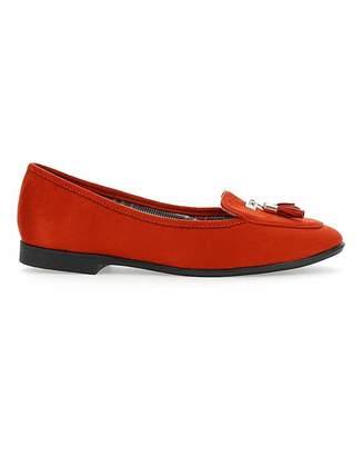Jd Williams Pointed Toe Tassel Slip On Shoes EEE Fit