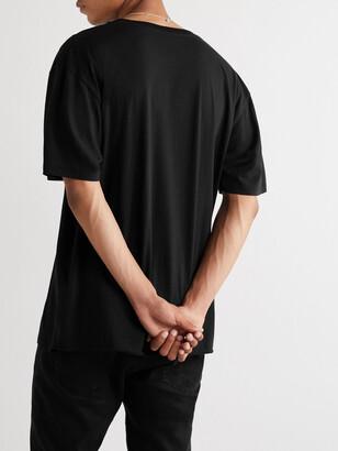 Saint Laurent Logo-Print Cotton-Jersey T-Shirt