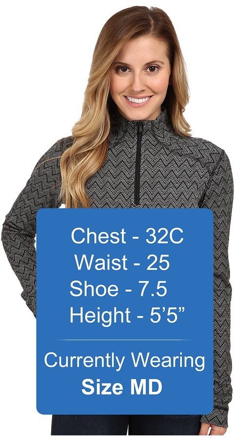 Smartwool Midweight Pattern Zip T-Neck Top