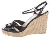 Gucci Guccissima Wedge Sandals