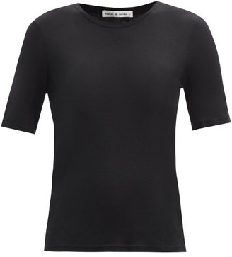FRANCES DE LOURDES Martin Round-neck Modal And Silk-blend T-shirt - Black