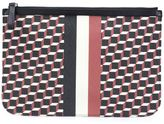 Pierre Hardy 'Cube Stripe' clutch - unisex - Calf Leather/Canvas - One Size