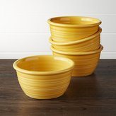 Crate & Barrel Farmhouse Yellow Cereal Bowls, Set of 4