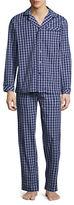 Black Brown 1826 Two-Piece Plaid Cotton Pyjama Set