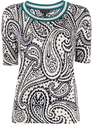 Escada Knitted Paisley-Print Top