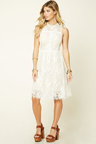 Forever 21 FOREVER 21+ Crochet Lace Midi Dress