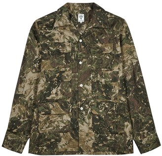 South2 West8 Camouflage-print linen shirt