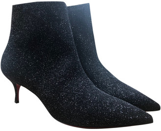 Christian Louboutin So Kate Booty Black Glitter Ankle boots