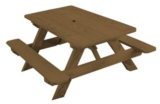 Harriet Bee Bianco Pine Kids Picnic Table Color: Mushroom