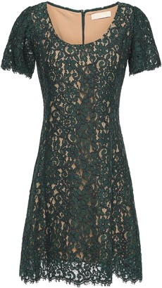 MICHAEL Michael Kors Scalloped Cotton-blend Corded Lace Mini Dress