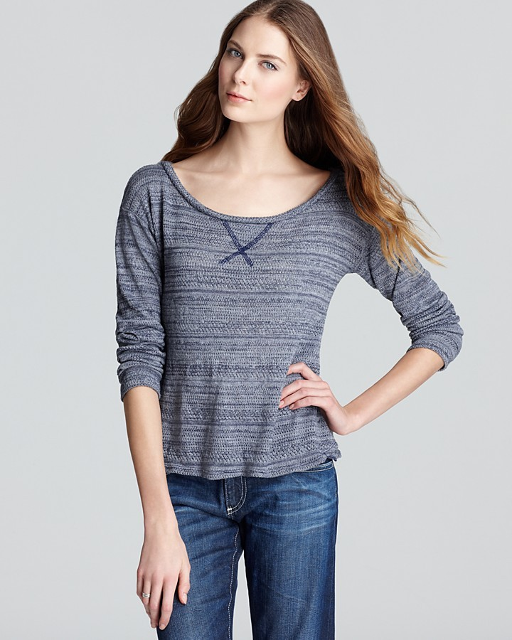 AG Adriano Goldschmied Pullover - Pointelle Knit Relaxed