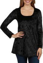 24/7 Comfort Apparel Ashley Velvet Maternity Tunic Top - Plus