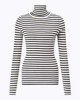 Jigsaw Striped Silk Cotton Polo