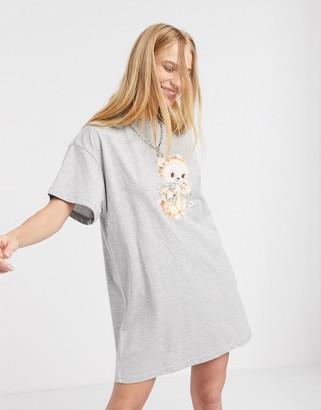New Girl Order teddy print t-shirt dress