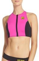 Body Glove Women's Call Me Zip Bikini Top