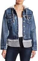 Live A Little Hooded Denim Jacket