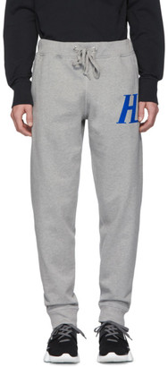 Helmut Lang Grey Monogram Lounge Pants