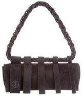 Giorgio Armani Ponyhair-Trimmed Shoulder Bag