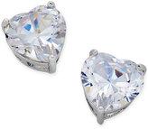 Thalia Sodi Silver-Tone Crystal Heart Stud Earrings, Only at Macy's