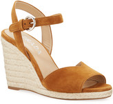 Prada Suede Espadrille Wedge Sandals
