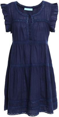 Melissa Odabash Rebekah Ruffle-trimmed Gathered Cotton-gauze Mini Dress