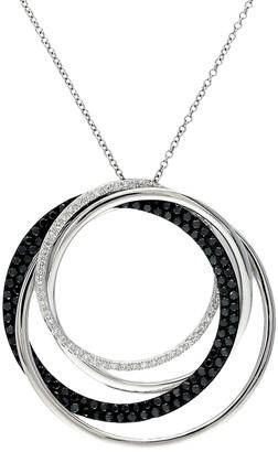 Effy 14K White Gold Diamond Circular Pendant Necklace