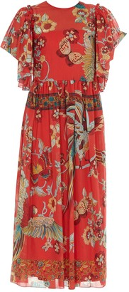 RED Valentino Floral Printed Flared Dress