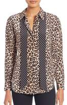 Equipment Kate Moss For Leopard-Print Silk Blouse