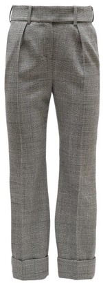 Alexandre Vauthier Prince Of Wales-check Wool High-rise Trousers - Womens - Grey Multi